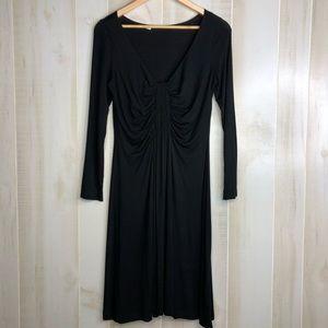 Karen Kane Midi Black Dress 3/4 Sleeve Size M